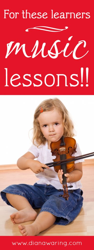 For budding musicians, get them music lessons!